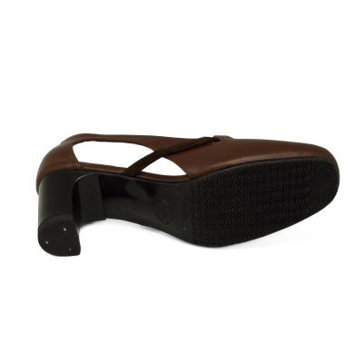 รองเท้าคัทชู SC-72 หนังนิ่มตาลแก่-กลับตาล