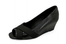 รองเท้าคัทชู SC-74 หนังนิ่มดำ