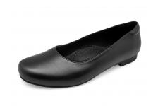 รองเท้าคัทชูส้นเตี้ย SC-77 หนังนิ่มดำ