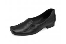 รองเท้าคัทชูส้นเตี้ย SC-78 หนังนิ่มดำ
