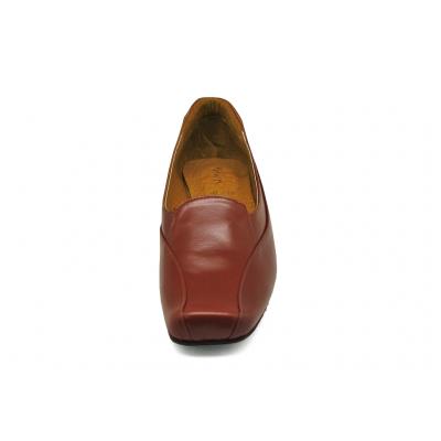 รองเท้าคัทชูส้นเตี้ย SC-78 หนังCCOแทน