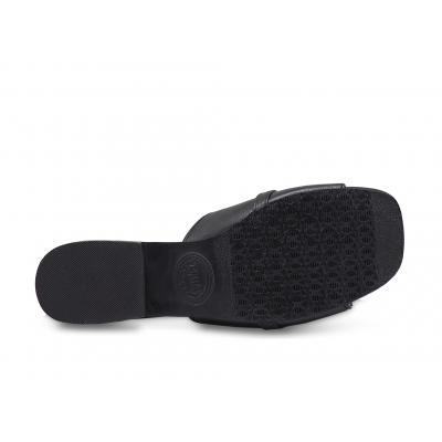 รองเท้าแตะ SC-79 หนังแพะปั่นนิ่มดำ