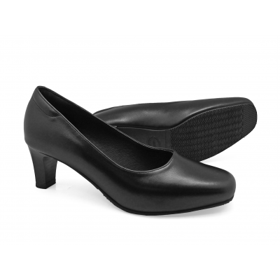รองเท้าคัทชู SC-80 หนังนิ่มดำ