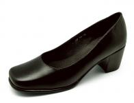รองเท้าคัทชู SF-48 หนังนิ่มดำ