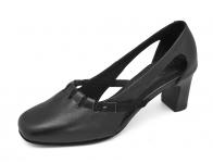 รองเท้าคัทชู SJ-29 หนังนิ่มดำ-กลับดำ