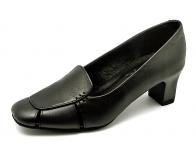 รองเท้าคัทชู SJ-45 หนังนิ่มดำ