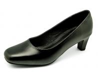 รองเท้าคัทชู SJ-47 หนังนิ่มดำ