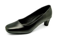 Women Courts Middle Heel SJ-47 Black Nappa