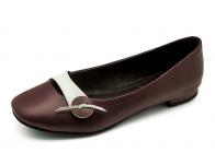 ลด 50% รองเท้าคัทชูส้นเตี้ย SJ-48 หนังนิ่มม่วง-แกะขาว