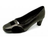 รองเท้าคัทชู SJ-52 หนังนิ่มดำ-กลับดำ