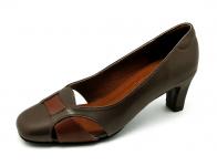 ลด 50% รองเท้าคัทชู SJ-52 หนังนิ่มตาลขัดเงา-แกะตาล
