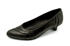 Women Courts Middle Heel SJ-56 Black Nappa