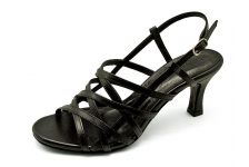 Women Sandals SJ-57 Black Nappa