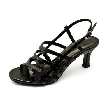 รองเท้าแตะ SJ-57 หนังนิ่มดำ