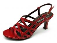 รองเท้าแตะ SJ-57 หนังนิ่มแดง