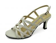 รองเท้าแตะ SJ-57 หนังนิ่มขาว