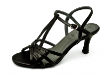 Women Sandals SJ-58 Black Nappa