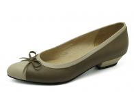 รองเท้าคัทชู SJ-59 หนังนิ่มครีมอ่อน-นิ่มขี้ม้า
