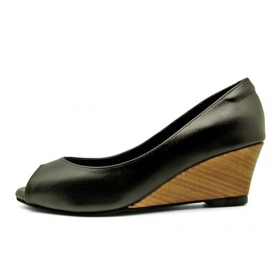 รองเท้าคัทชู SJ-60 หนังนิ่มดำ