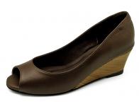 ลด 50% รองเท้าคัทชู SJ-60 หนังนิ่มตาลแก่