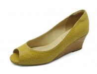 ลด 50% รองเท้าคัทชู SJ-60 หนังลายงูเหลืองนอก