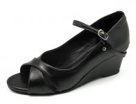 รองเท้าคัทชู SJ-61 หนังนิ่มดำ