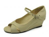 ลด 50% รองเท้าคัทชู SJ-61 หนังนิ่มครีมอ่อน