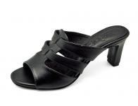 รองเท้าแตะ SJ-64 หนังนิ่มดำ