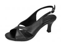 รองเท้าแตะ SJ-65 หนังนิ่มดำ