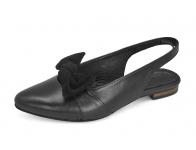 รองเท้าแตะ SJ-66 หนังนิ่มดำ