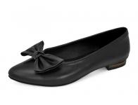 รองเท้าคัทชูส้นเตี้ย SJ-68 หนังนิ่มดำ