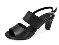รองเท้าแตะ SJ-69 หนังนิ่มดำ