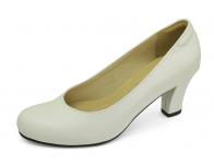 รองเท้าคัทชู SJ-71 หนังนิ่มขาว