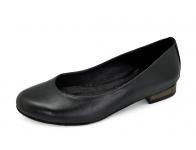 รองเท้าคัทชูส้นเตี้ย SJ-72 หนังนิ่มดำ