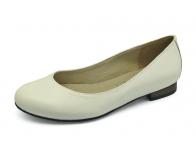 รองเท้าคัทชูส้นเตี้ย SJ-72 หนังนิ่มขาว