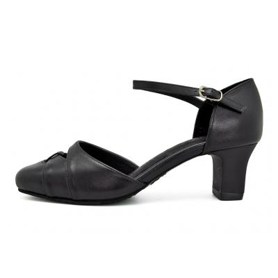 รองเท้าคัทชู SJ-74 หนังนิ่มดำ