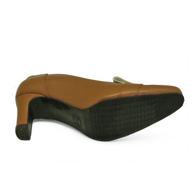 รองเท้าคัทชู SJ-76 หนังนิ่มแทน-หนังนิ่มครีมอ่อน