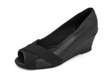 รองเท้าคัทชู SJ-77 หนังนิ่มดำ