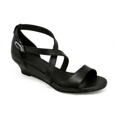 รองเท้าแตะ SJ-81 หนังนิ่มดำ