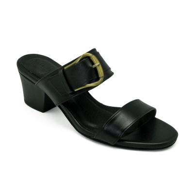 รองเท้าแตะ SJ-82 หนังนิ่มดำ
