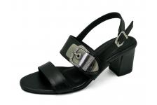 รองเท้าแตะ SJ-83 หนังนิ่มดำ