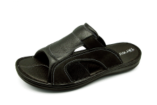 Men Sandals SKA-17 Black Embossed Nubuck