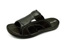 Men Sandals SKA-17 Black Embossed Nubuck