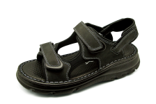 Men Sandals SKA-21 Black Nubuck (Oiled)