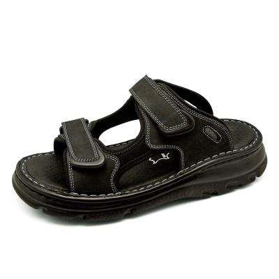 รองเท้าแตะ SKA-21 หนังนูบักออยล์ดำ