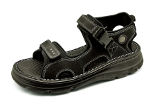 Men Sandals SKA-22 Black Nubuck (Oiled)
