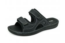 รองเท้าแตะ SKA-25 หนังนูบักกรมท่า-นูบักออยล์ดำ-ตาข่ายเทา