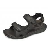รองเท้าแตะ SKA-27 หนังนูบักออยล์ดำ-นูบักออยล์ตาล-ตาข่ายดำ