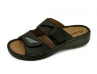 ลด 50% รองเท้าแตะ SKA-28 หนังนูบักออยล์ดำ