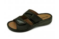 รองเท้าแตะ SKA-28 หนังนูบักออยล์ดำ